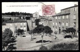 CPA ANCIENNE FRANCE- LE PERTHUS (66)- LA PLACE EN ÉTÉ- TRES GROS PLAN- L'EGLISE - Frankreich