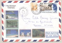Nouvelle Caledonie - 1990 - 73 F En 3 F Stamp On Airmail Cover Van Dumbea Naar Nîmes / France - Nieuw-Caledonië