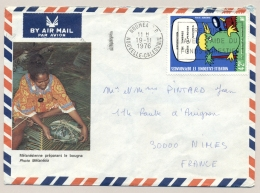 Nouvelle Caledonie - 1976 - 42 F Stamp On Cover From Noumea To Nimes / France - Nieuw-Caledonië