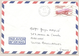 Nouvelle Caledonie - 1983 - 61 F Stamp Airplane L'Aiglon Caudron On Cover From Noumea To Bouillargues / France - Nieuw-Caledonië