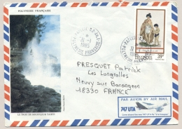 Polynesie Francaise - 1985 - 39 F Stamp On Airmail Cover From Papeete To France - Frans-Polynesië