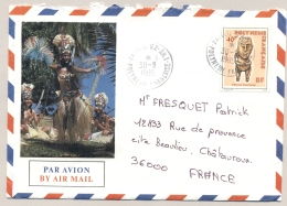 Polynesie Francaise - 1985 - 40 F Stamp On Airmail Cover From Papeete To Chateauroux / France - Frans-Polynesië
