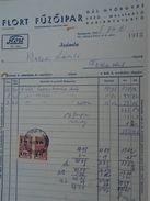 AD036.03  Hungary  Old Invoice -FLORT Fuzöipar- Corset Bra Pantyhose - 1948 - Tax Stamps - Facturas & Documentos Mercantiles