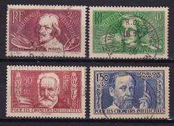 France 1936 Au Profit Des Chomeurs Intellectuels Serie Complete Yvert  Nr. 330 / 333 Oblitéré - Frankrijk
