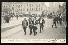 ROYALTY / Belgium / Belgique / België / Bezoek Koning Leopold II / Antwerpen / 1905 - Antwerpen