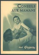 Publicité Conseil Aux Mamans Lait Guigoz Vuadens Gruyere Fribourg - Advertising