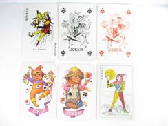 UN LOT N° 23 DE 6 JOKERS TOUS DIFFERENTS - Kartenspiele (traditionell)