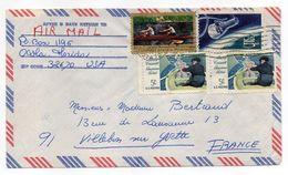 USA--1967--Lettre Timbres AVIRON + Satellite Sur Lettre De Floride (USA) Pour VILLEBON SUR YVETTE - 91 (France) - Aviron