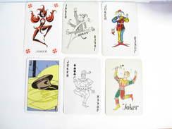 UN LOT N° 33 DE 6 JOKERS TOUS DIFFERENTS - Kartenspiele (traditionell)