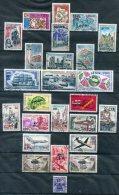 Réunion               Lot   Oblitérés Surchargés CFA (2 Scans) - Stamps