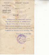 Assistance Publique-admis Service Enfants Assistés Par Suite Du Décès De Sa Mere.......-état-130 Mmx210mm - 1914-18