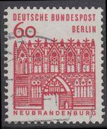 !b! BERLIN 1964 Mi. 247 USED SINGLE (f) - German Buildings: Treptow Gate, Neubrandenburg - [5] Berlin