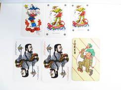UN LOT N° 53 DE 6 JOKERS TOUS DIFFERENTS - Cartes à Jouer Classiques