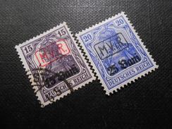D.R.Mi 1/2  15Bauf 15Pf*+25Bauf20Pf*MLH - Deutsche Besetzungsausgaben 1914/18 (Militärverw. Rumänien) - 1917 - Mi € - Occupation 1914-18