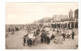 Knokke / Knocke - Oude Foto Postkaartformaat Dun Papier - Strand Tafereel - Zeer Geanimeerd - Knokke