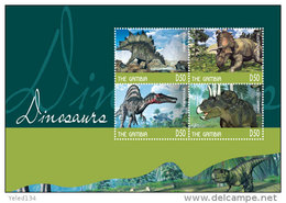 GAMBIA 3601 ;  IGPC # 1433 SH ; MINT N H STAMPS OF  DINOSAURS - Gambie (1965-...)