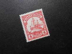 D.R.Mi 30a - 4C*MLH  Deutsche Kolonien (Kiautschou) 1909  Mi € 1,20 - Colonia: Kiautchou
