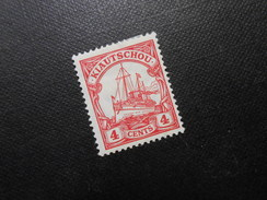 D.R.Mi 30a - 4C*MLH  Deutsche Kolonien (Kiautschou) 1909  Mi € 1,20 - Colony: Kiauchau