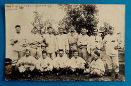 Cpa CARTE-PHOTO MILITARIA GROUPE MILITAIRES Au CAMP DE BOIS L'EVEQUE Près De TOUL - 1910 - - Toul
