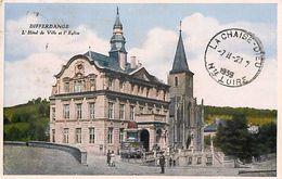 Ref V195- Luxembourg - Differdange  - L Hotel De Ville Et L Eglise  -carte Bon Etat  - - Differdange