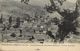 Ref V193- Albanie - Col De Pisoderi - Vue Generale De Zelova - Guerre 1914-18- Campagne D Orient    -carte Bon Etat  - - Albanie