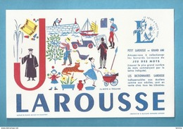 BUVARD - LAROUSSE - LETTRE J - - Stationeries (flat Articles)