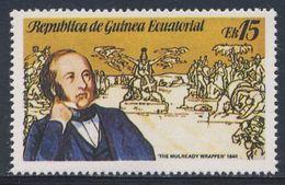 "Equatorial Guinea / Guinee Equatorial 1979 Mi 1456 ** ""The Mulready Wrapper"" (1840) - Sir Rowland Hill - Rowland Hill"
