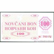 TWN - BOSNIA-HERZEGOVINA 6a - 100 Dinara 1992 Counterfeit - Handstamped BREZA UNC - Bosnia Erzegovina