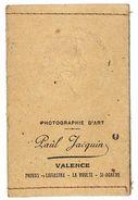 Petit Pochette Photo Avec Portrait De Femme Art Nouveau (gaufrée), Photo Jacquin Valence - Photographie