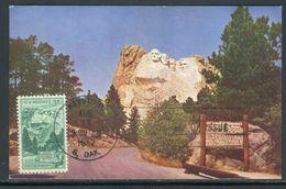 Etats Unis - Carte Maximum 1952 - Black Hills , Mt Rushmore National Monument - Maximumkarten (MC)