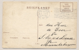 Nederland - 1916 - Speciale Militaire Fotokaart Portvrij Van Utrecht Naar Munnekeburen - Oorlog 1914-18