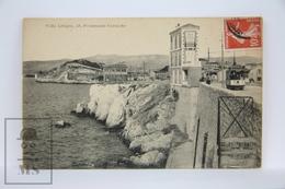 Postcard France - Villa Lebigre - Promenade Corniche - Old Tram - Posted 1909 - Marsella