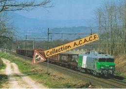 CC 6504 Et Train De Fret Arrivant à Culoz (01) - - Trains