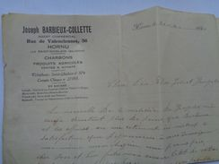 Réf:99-4-X,      HORNU-LEZ-SAINT-GHISLAIN   BERBIEUX-COLETTE  ( Lettre ) - Old Paper