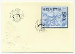 SUISSE - Enveloppe FDC - BRODERIE (Timbre En Tissu) - ST GALLEN 21/06/2000 - Textile