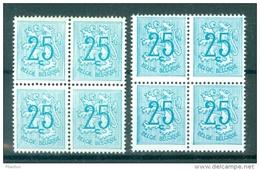 BELGIE - OBP Nr 1368 P1 + P2 - Heraldieke Leeuw - Blok Van 4/bloc De 4 - MNH** - 1951-1975 Heraldischer Löwe (Lion Héraldique)