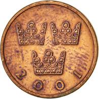 Suède, Carl XVI Gustaf, 50 Öre, 2001, TTB, Bronze, KM:878 - Suède