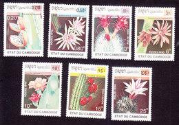 Cambodia, Scott #1057-1063, Mint Hinged, Fruit, Issued 1990 - Cambodge