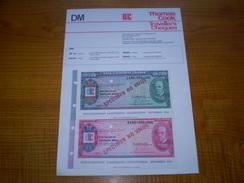 Deutsche Mark: Travellers Cheques 200 DM & 500 DM De Thomas Cook . 1982 - Coins & Banknotes