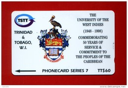"TRINIDAD & TOBAGO: T&T-245A ""50 Years Of University Of W.I."". TT$ 60 CN: 245CTTA. Used. - Trinidad & Tobago"