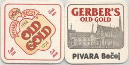 Old Gold GERBER`S  Pivara Becej Brewery Yugoslavia Serbia Beer  Coaster - Beer Mats