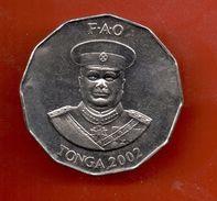 TONGA - 50 SENITI 2002 SC KM71 FAO - Tonga