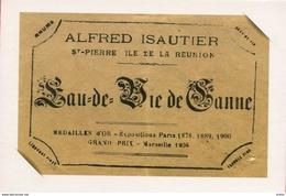 Superbe - Ile De LA REUNION - Dépliant De 5 Cartes Publicitaires (détachables) Rhum ISAUTIER - Réunion