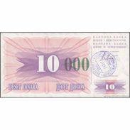 TWN - BOSNIA-HERZEGOVINA 53g - 10.000 Dinara 1993 (1992) Handstamp Date 24.12.1993 - SARAJEVO - Tall Green Zeroes AU - Bosnia Erzegovina