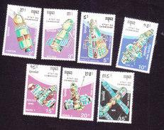 Cambodia, Scott #1099-1105, Mint Hinged, Space, Issued 1990 - Cambodja