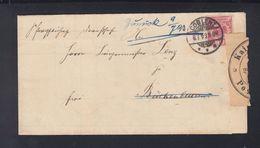 Dt. Reich Faltbrief 1893 Coblenz Nach Brückenbeuren Verschlusszettel Zurück - Deutschland