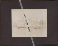 LE HAVRE (SEINE-MARITIME) - TOUR FRANCOIS 1ER, PORT DU HAVRE, EN 1856 - D'APRES UNE PHOTOTYPE SUR PAPIER CIRE - Lieux