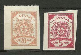 FAUX LETTLAND Latvia 1919 Fake Alte Fälschungen * - Lettonia