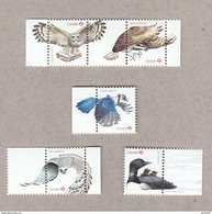 OWL, FALCON, OSPREY [FISH EAGLE / HAWK],birds Of Prey, BLUE JAY, LOON Set  5 Souvenir Sheet Stamps Birds Of Canada 2017 - Arends & Roofvogels