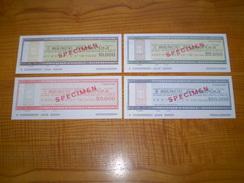 Italie Lire: Travellers Cheque De 10000, 25000, 50000 & 100000 Lire De Banco Di Napoli. Travellers Cheques - Non Classés